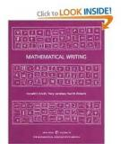Mathematical Writing