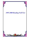 1995-2000 Reading Full Test