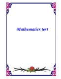 Mathematics test