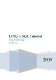 LINQ to SQL Tutorial