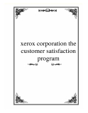 xerox corporation the customer satisfaction program