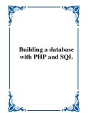 Building a database with PHP and SQL
