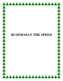 BUSINESSAT THE SPEED