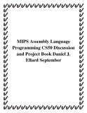 MIPS Assembly Language Programming CS50 Discussion and Project Book Daniel J. Ellard September