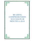SÁCH READING COMPREHENSION SUCCESS IN 20 MINUTES A DAY