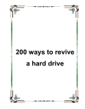 200 ways to revive a hard drive