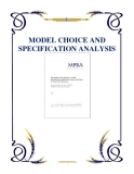 MODEL CHOICE AND SPECIFICATION ANALYSIS