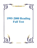 Sách 1995-2000 Reading Full Test