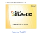 Chinh phục Word 2007