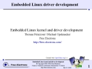 Embedded Linux driver development