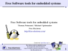 Free Software tools for embedded systems