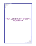 TOEFL VOCABULARY INTENSIVE WORKSHOP
