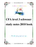 CFA level 3 schweser study notes 2010 book