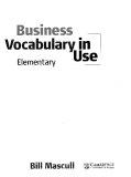 Business vocabulary in use elementary