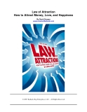 Law of Attraction - How to Attract Money, Love,  and Happiness By David Hooper