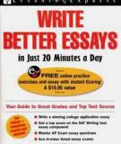 Write Better Essays in Just 20 Minutes a Day