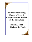Fundamentals of Business Marketing Research Chapter 2