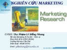 Nghiên cứu Marketing - Chương 1 - Marketing Research