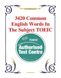 3420 Common English Words In The Subject TOEIC