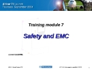 Training module :  Safety and EMC