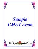 Sample GMAT exam