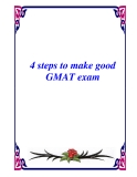 4 steps to make good GMAT exam