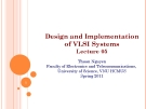 Design and Implementation of VLSI Systems_Lecture 05: Circuit Characterzation performace estimation