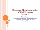 Design and Implementation of VLSI Systems_Lecture 07: Sequential Circuit Sign