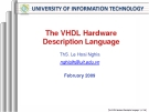 The VHDL Hardware Description Language