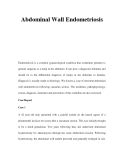 Abdominal Wall Endometriosis
