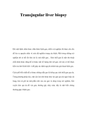 Transjugular liver biopsy