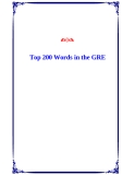 Top 200 Words in the GRE