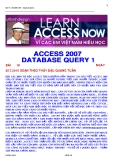 ACCESS 2007 - TẠO FORM QUERY 1
