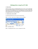 Sử dụng Solver trong Excel 97-2010