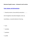 Business English Lesson – Advanced Level's archiveTests, Quizzes, and Self-evaluation