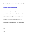Business English Lesson – Advanced Level's archiveEmployee Performance Appraisal