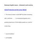 Business English Lesson – Advanced Level's archiveGlobal Production and the Labour Market