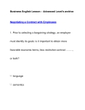 Business English Lesson – Advanced Level's archiveNegotiating a Contract with Employees