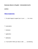 Business Idioms in English – Intermediate level'sarchiveWays of approving