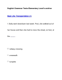 English Grammar Tests-Elementary Level's archiveReal Life: Transportation (1)