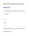 English Grammar Tests-Elementary Level's archiveWeather Test (1)