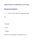 English Grammar Tests-Elementary Level's archiveReal Life: Farm Animals (1)