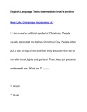 English Language Tests-Intermediate level's archiveReal Life: Christmas Vocabulary (1)
