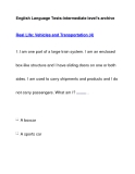 English Language Tests-Intermediate level's archiveReal Life: Vehicles and Transportation (4)