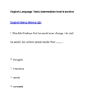 English Language Tests-Intermediate level's archiveEnglish Slang Idioms (22)