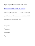 English Language Tests-Intermediate level's archiveThe entrepreneurial life cycle (2): The seven