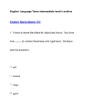 English Language Tests-Intermediate level's archiveEnglish Slang Idioms (74)