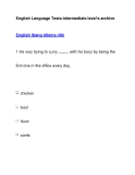 English Language Tests-Intermediate level's archiveEnglish Slang Idioms (49)