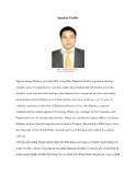 Speaker ProfileNguyen Quang Thuan is currently CEO of StoxPlus Financial Media Corporation