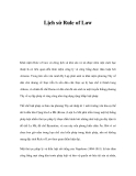 Lịch sử Rule of Law